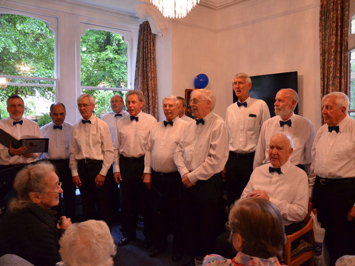 Singing provided by the Wantage Male Voice Choir